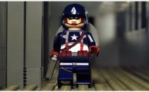 Kapitan Ameryka z klocków lego (animacja poklatkowa)