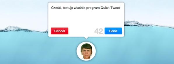 Quick Tweet aplikacja Twitter