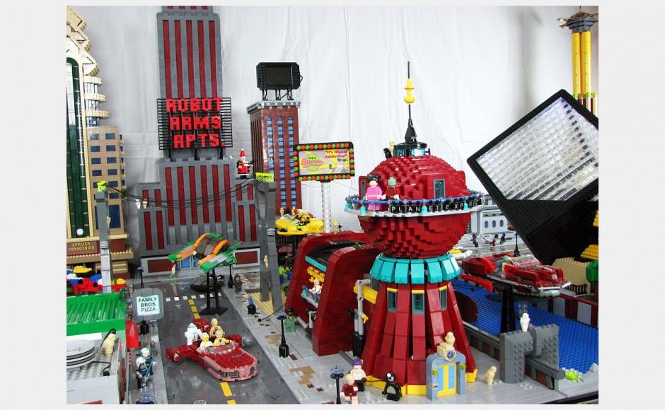 Futurama (Przygody Fry'a w kosmosie) z klocków lego