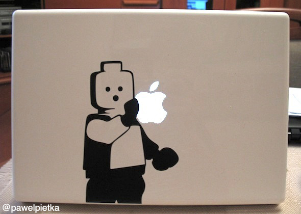 Lego MacBook White Naklejka