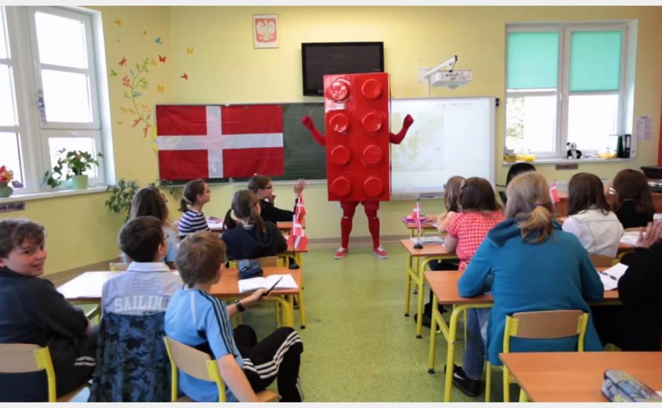 Klocek lego reklamuje miasto Kołobrzeg