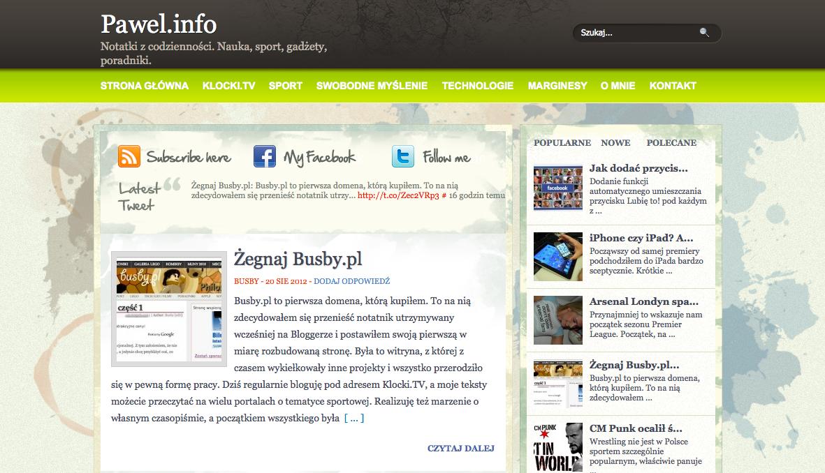 Pawel Pietka info stara wersja strony internetowej