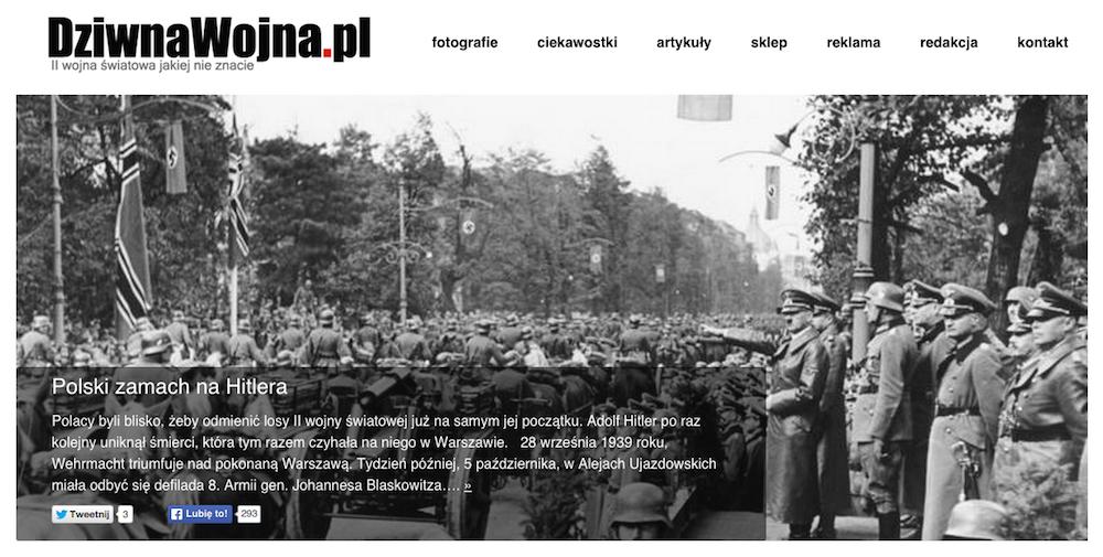 Strona internetowa dziwnawojna-pl