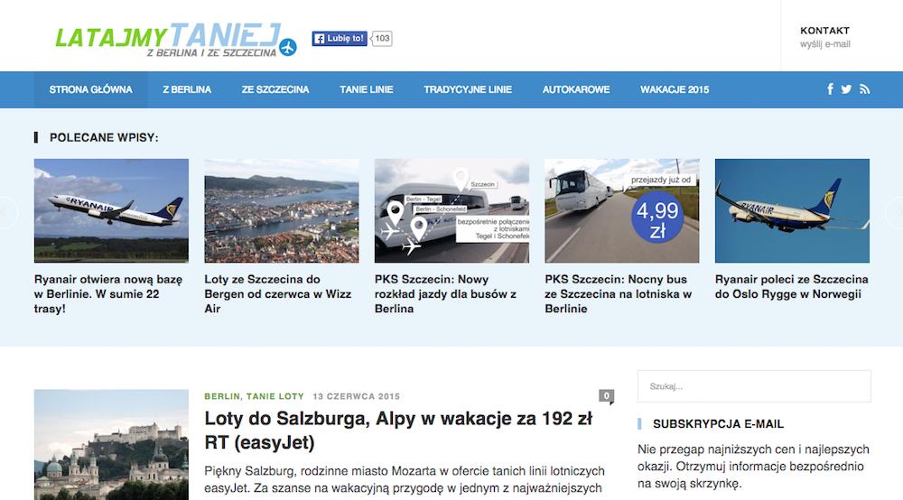 Strona internetowa latajmytaniej-pl