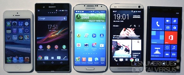 Samsung Galaxy S4 vs iPhone 5 vs Sony Xperia Z vs HTC One vs Nokia real