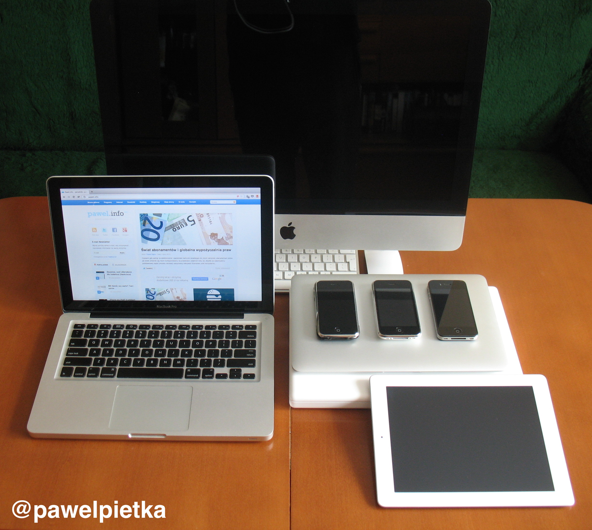 Kolekcja produktow apple iphone ipad macbook