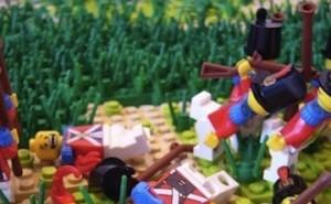 Bitwa pod Fontenoy (1745) z klocków lego